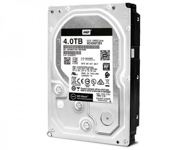 WD 4TB 3.5'' SATA III 256MB 7.200rpm WD4005FZBX Black