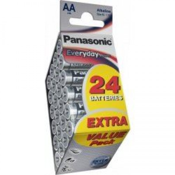 PANASONIC baterije LR6EPS/24PD=AA 24 kom Alkalne Everyday