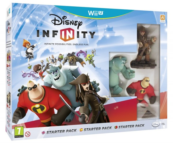 WiiU Infinity Starter Pack (Jack Sparrow+Mr.Incredible+Sulley+Game+Playset Piece+Power Disc) ( IYBJ000001 )